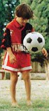 Lionel Messi de niño con la camiseta de Newell's
