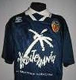 Camiseta alternativa de Valencia CF 1993/1994