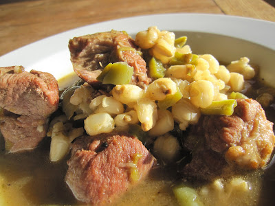 Recipe: Pork green chile posole stew with nopales