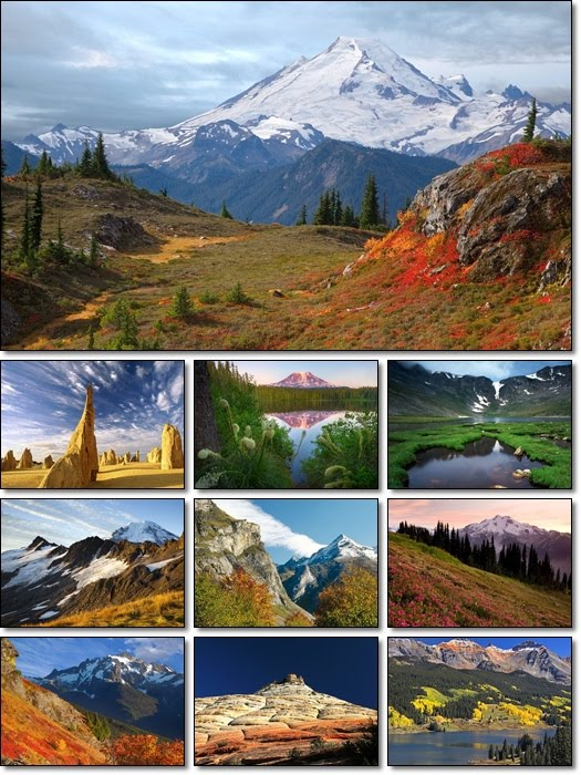 Beautiful Mountain Scenery - Desktop Wallpapers Pack