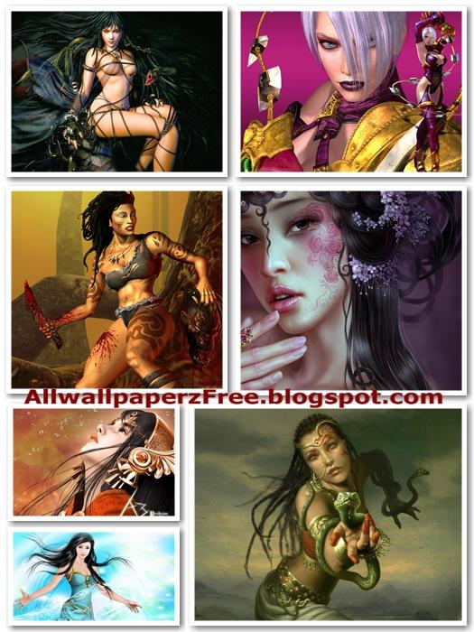 Beautiful Fantasy Girls Wallpapers Pack