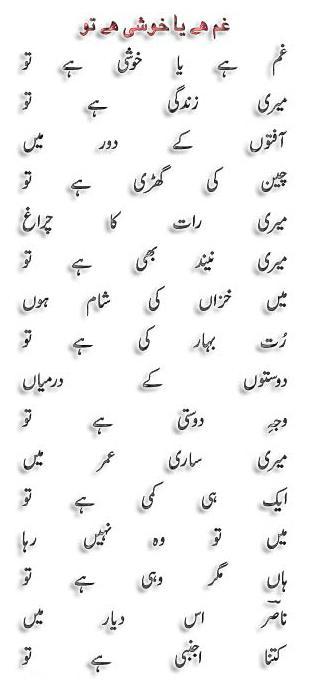 Gham hai ya khushi lyrics