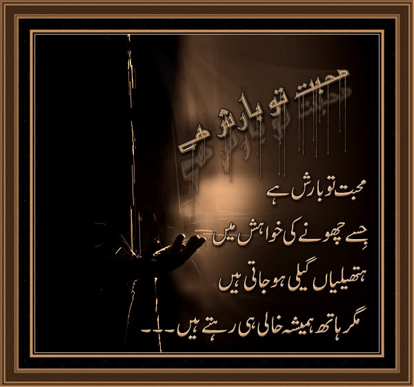 Mohabbat To Barish Hai - Urdu Poetry