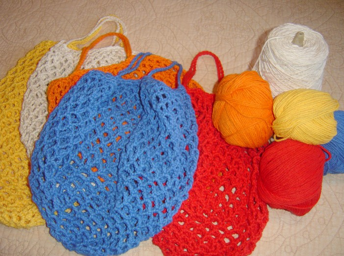 String Bag Crochet Pattern : Crochet a string bag you can stuff in your pocket