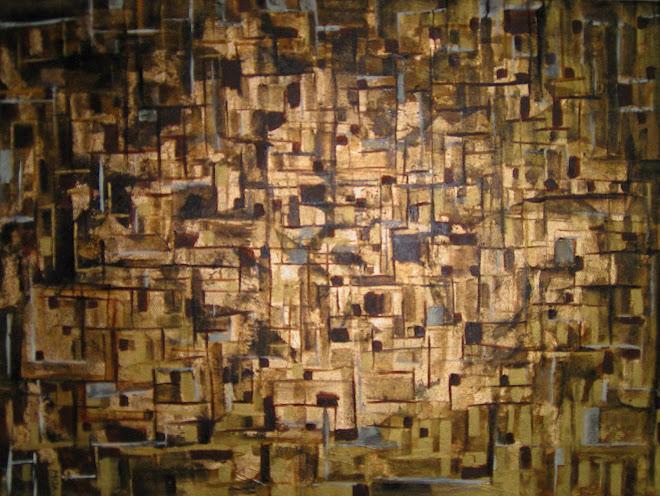 Abstrato em ouro