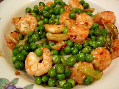 Prawns with Peas