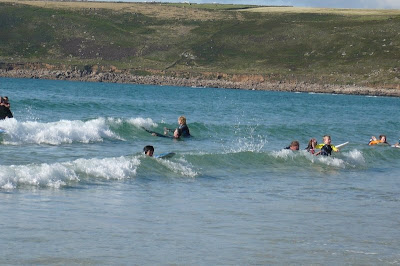 Sennen Cove junior surfers