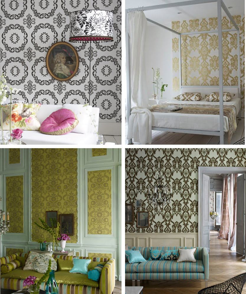 Fabric Wall Paper : Michelle kroll design diy fabric wallpaper
