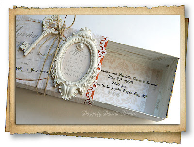 Wedding Invitation Keepsake Box by Guest Designer Danielle Flanders