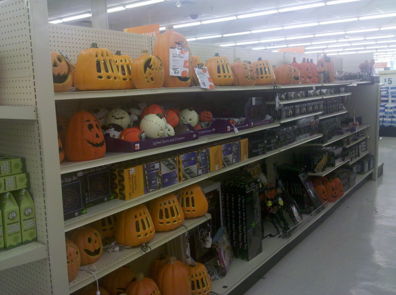 Put All The Stuff Out Yet Because Back To School Was In Full Effect But It Seems They Had A Lot Less Halloween Items Than Years Past