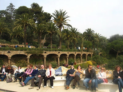 Güell Park - On the main teracce