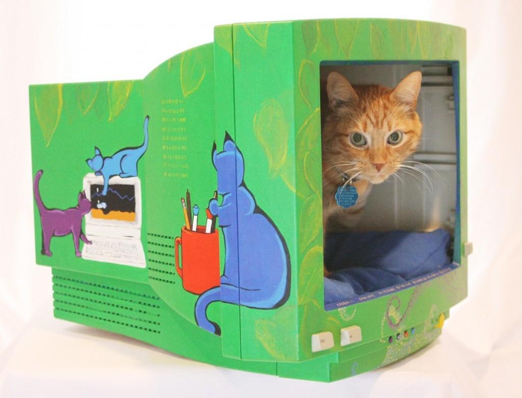 Artesanato reciclado cama de gato arte de fazer for Cool house products