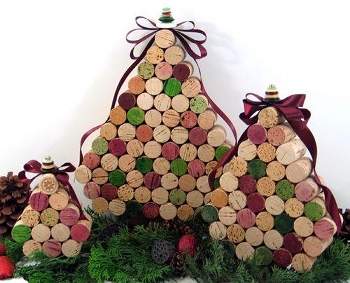 decoracao arvore de natal reciclavel : decoracao arvore de natal reciclavel:Wine Cork Christmas Tree