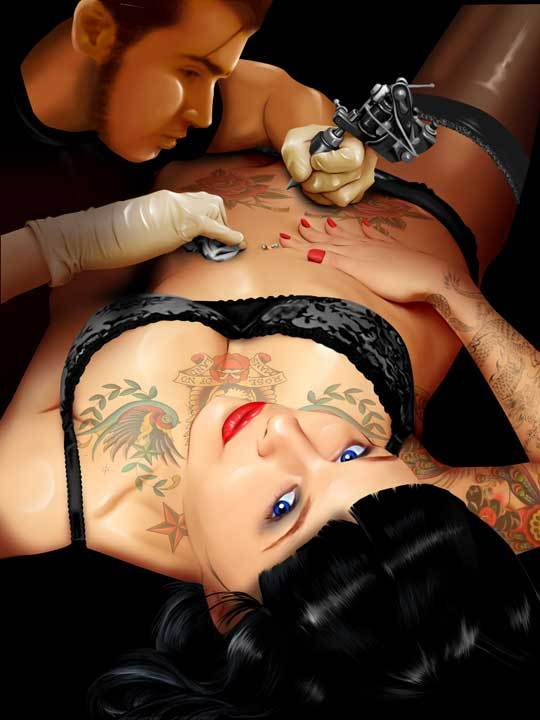 Related posts: Tattoo Belly Status Ink Magazine Female Tattoo Artist
