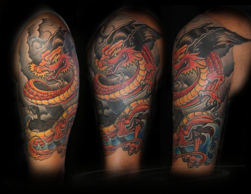 Wonderfull Dragon Tattoos for Girls