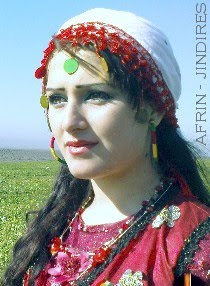 Kurdish woman from Afrin, Syria
