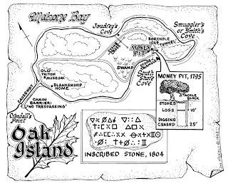 Mapa tesoro Isla de Oak