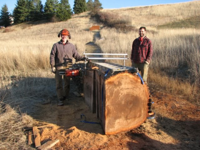 how to make first cut with chainsaw mill
