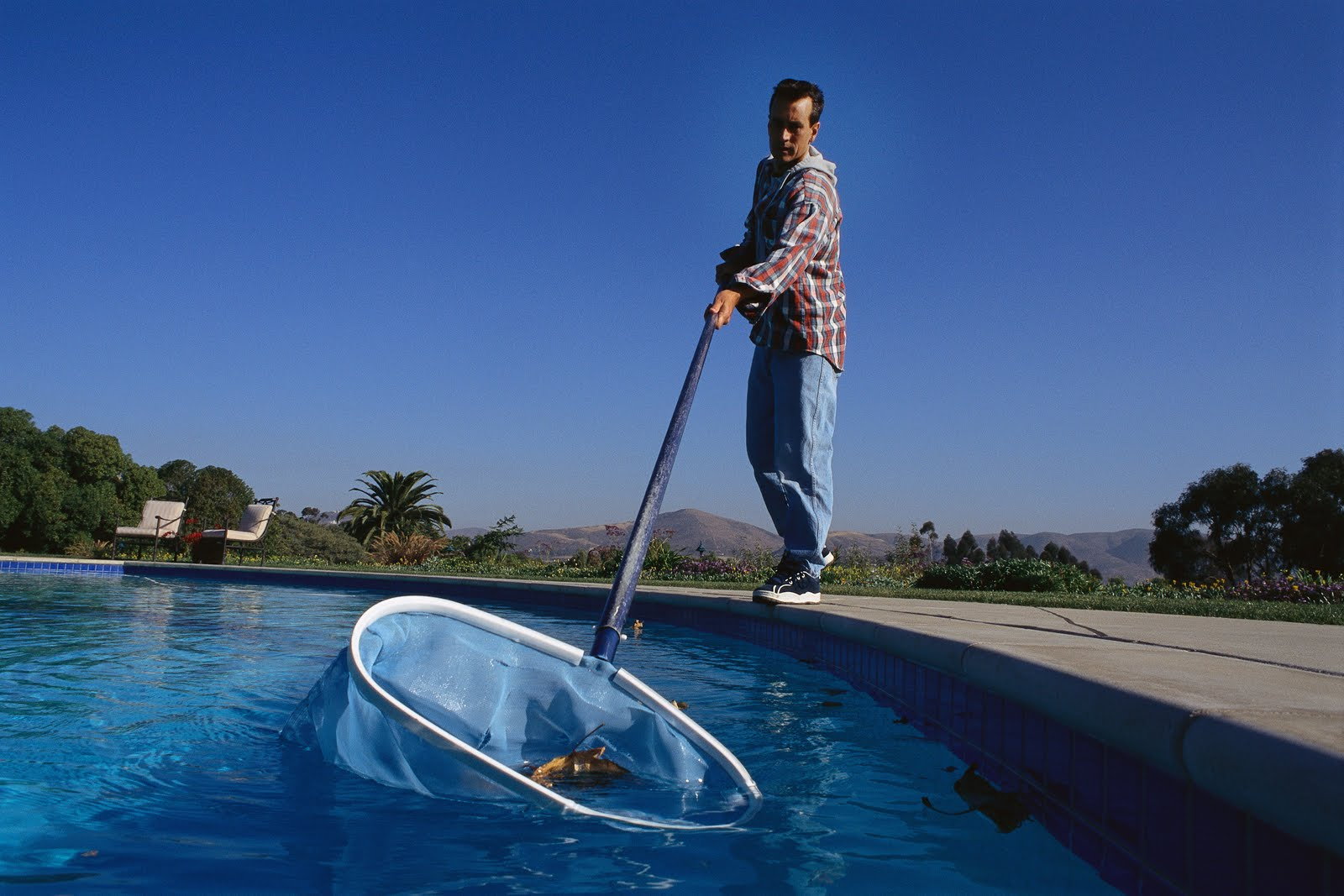 Blame it on the pool guy for Pool service