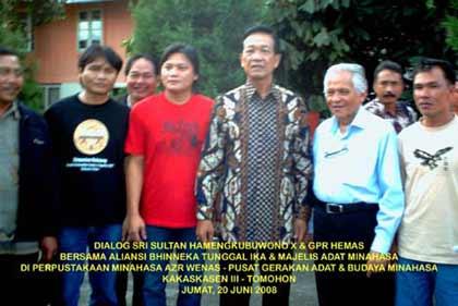 Bode dengan Dr Bert A Supit & SRI SULTAN HB X