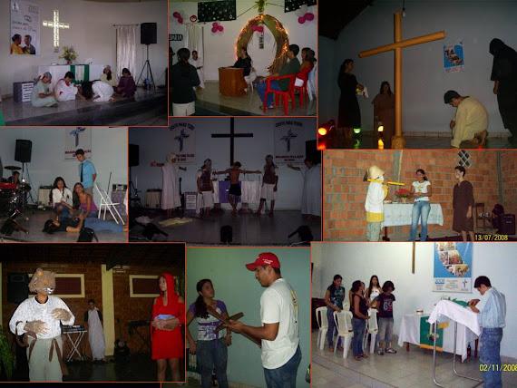 Grupo de Artes TRAJETO em ação.