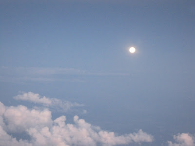 The full moon from cruising altitude