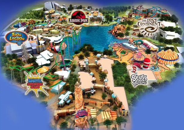 islands of adventure park map. Special Islands of Adventure