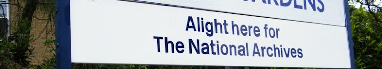 National Archives sign at Kew Gardens Station