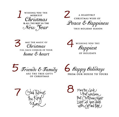 A Little Store: Sentiments for the Inside of Christmas Cards