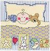 Схемы для вышивки крестом для новорожденных.