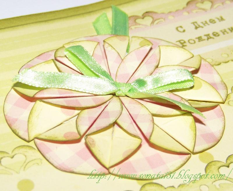 Цветы из нажелатиненной ткани. Веточка лилии