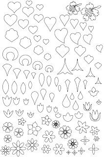 Шаблоны для изготовления цветов и