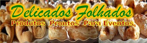 FOLHADOS :Salgado folhado tamanho coquetel decorado , varios formatos e sabores.