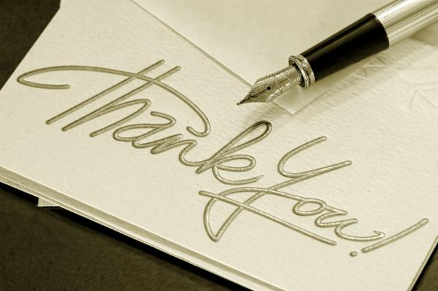 thank you letter. personal thank you letter
