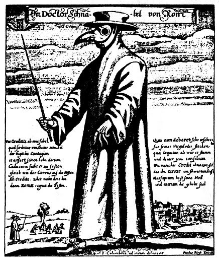 bubonic plague doctor. from the Bubonic plague or