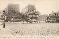 Emplacement sur lequel la Mairie du 18ème a été construite