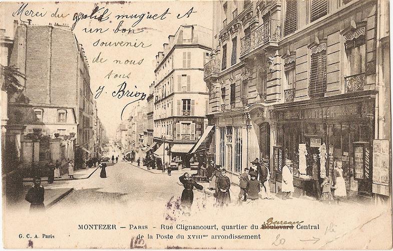 cartes postales et photos des rues du 18 me arrondissement de paris. Black Bedroom Furniture Sets. Home Design Ideas