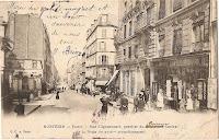 Rue Clignancourt, quartier du bureau central de la Poste du XVIIIème