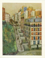 Rue Paul Albert par Maurice Utrillo