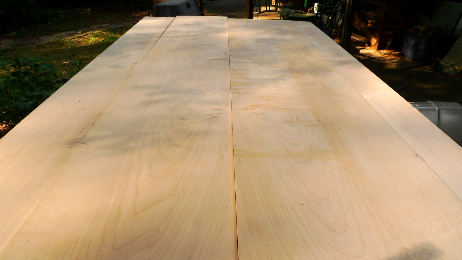 Butt Joints And Pocket Holes: Maple Dining Room Table   Top, Chamfers,  Crosscuts