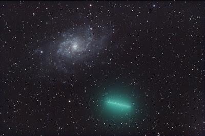 M33 y el cometa 8P/Tuttle