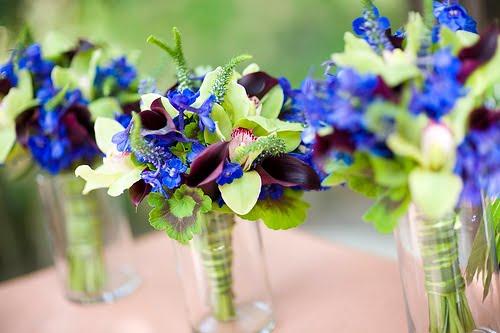 Plum eggplant fuschia PURPLE wedding flowers