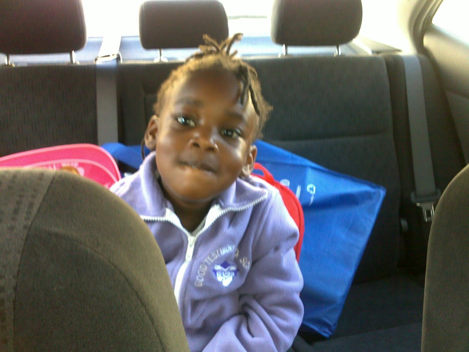 Imani%252Bin%252Bcar Imani ready for the ride to school. I heard she cried on the first day ...