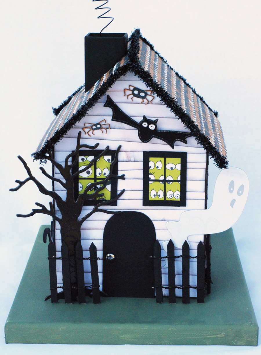 A blessed life everyday life with lisa dorsey happy october for How to make a cardboard haunted house