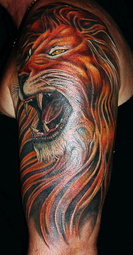 lion head tattoo. Lion Tattoo Designs Free.