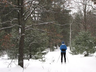 skiing at Pentwater Pathway