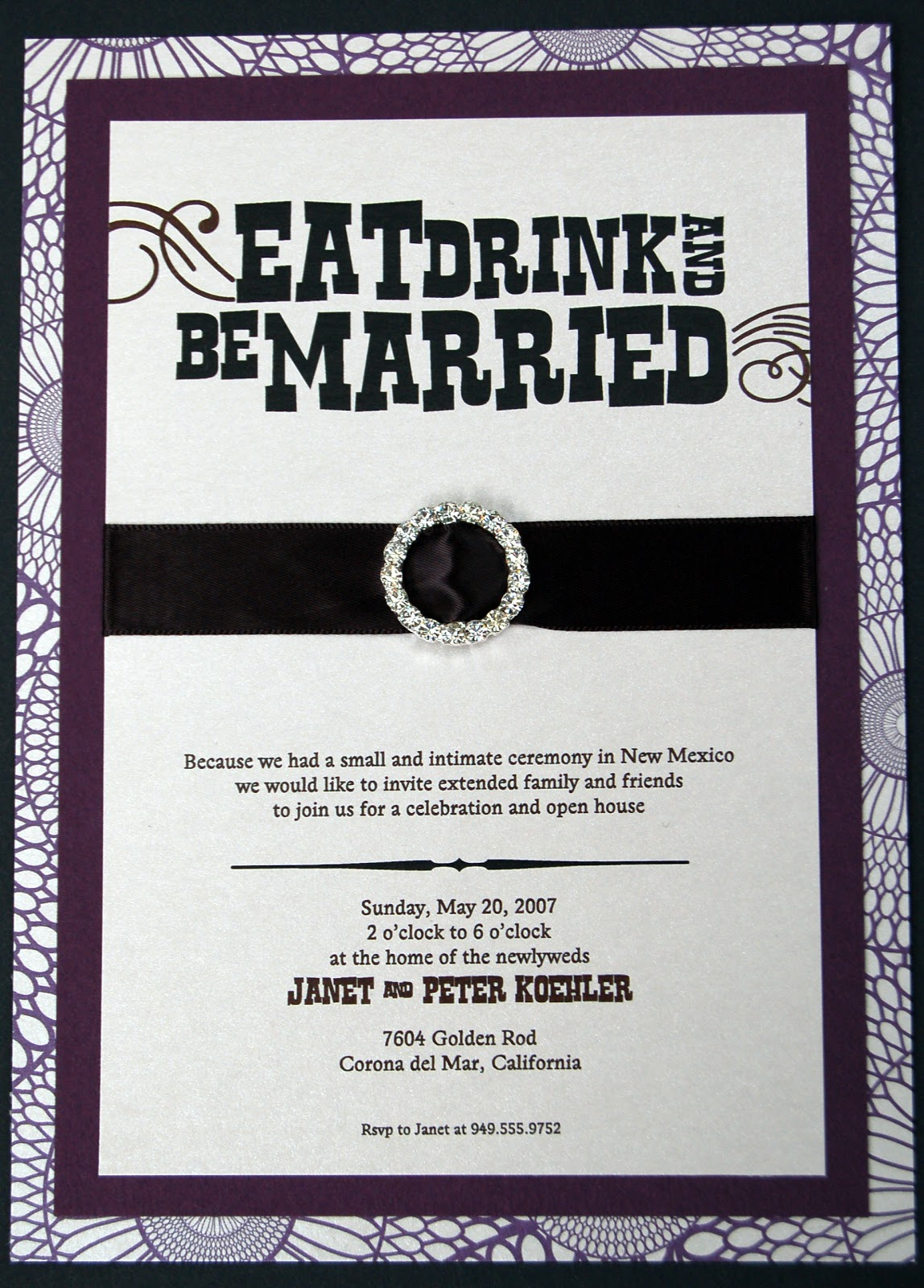 Fine Prints: Eat, Drink, and Be Married - Post Wedding Invitations ...