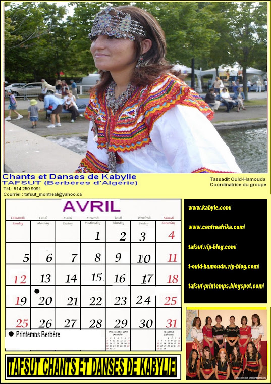 page calendrier