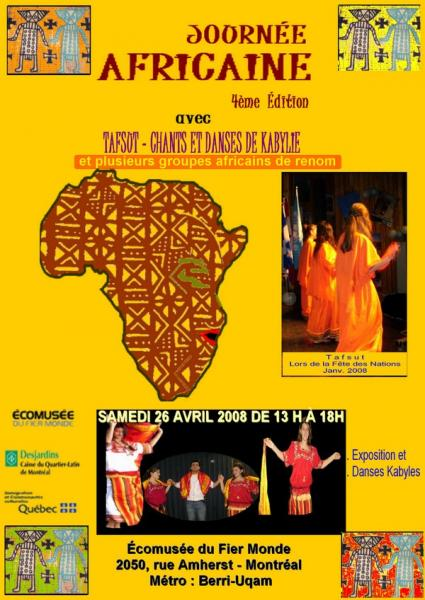 TAFSUT À LA 4ÈME JOURNÉE AFRICAINE