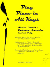 Play Piano in All Keys, Scales, Chords/ Cadences, Arpeggios Charts ONLY
